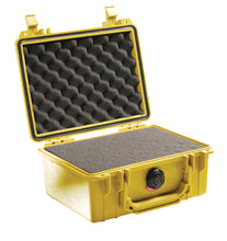Yellow with foam Pelican 1150 Protector Case made USA with a lifetime warranty.