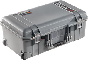 Silver Pelican 1535Air Travel Case. The perfect carry on case. Great for photo and video professionals. Lifetime warranty and made in the USA!