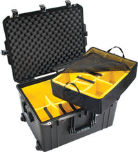 Pelican 1637Air WD with padded dividers. Lifetime warranty and made in the USA. This is a great case to keep gear and equipment dry, dust free, and safe.