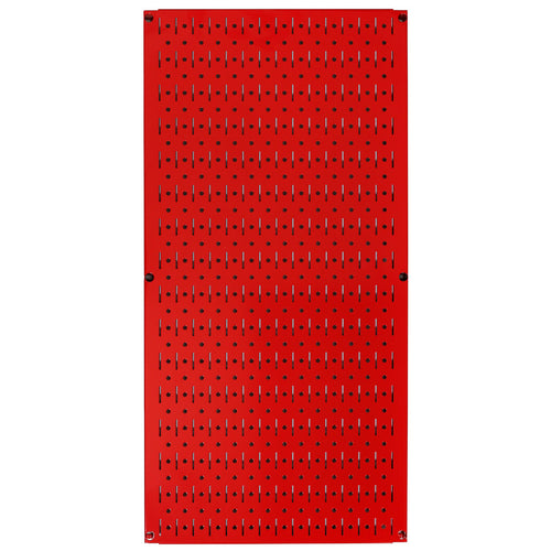 32in x 16in Red Metal Pegboard Tool Board Panel - CEG & Supply LLC