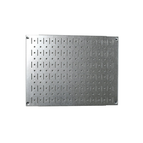 12in x 16in Galvanized Metal Pegboard Tile Fun Size Tool Board Panel - Metallic - CEG & Supply LLC