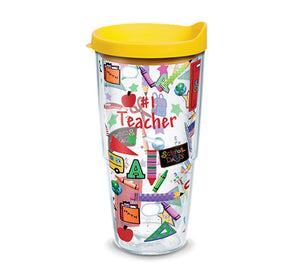 Hallmark - #1 Teacher Wrap With Lid 24oz Tervis - CEG & Supply LLC