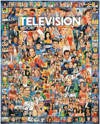 Television History Jigsaw Puzzle-White Mountain Puzzles - CEG & Supply LLC