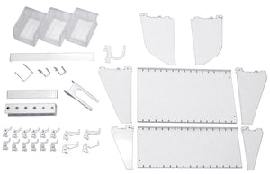 Slotted Metal Pegboard Standard Workstation Accessory Kit by Wall Control - CEG & Supply LLC