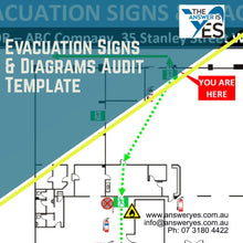 Load image into Gallery viewer, DOC0066_Evacuations Signs & Diagrams Audit Template