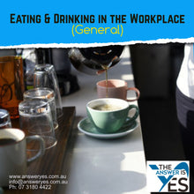 Load image into Gallery viewer, POL0013B_Eating & Drinking in Workplace Policy (General)
