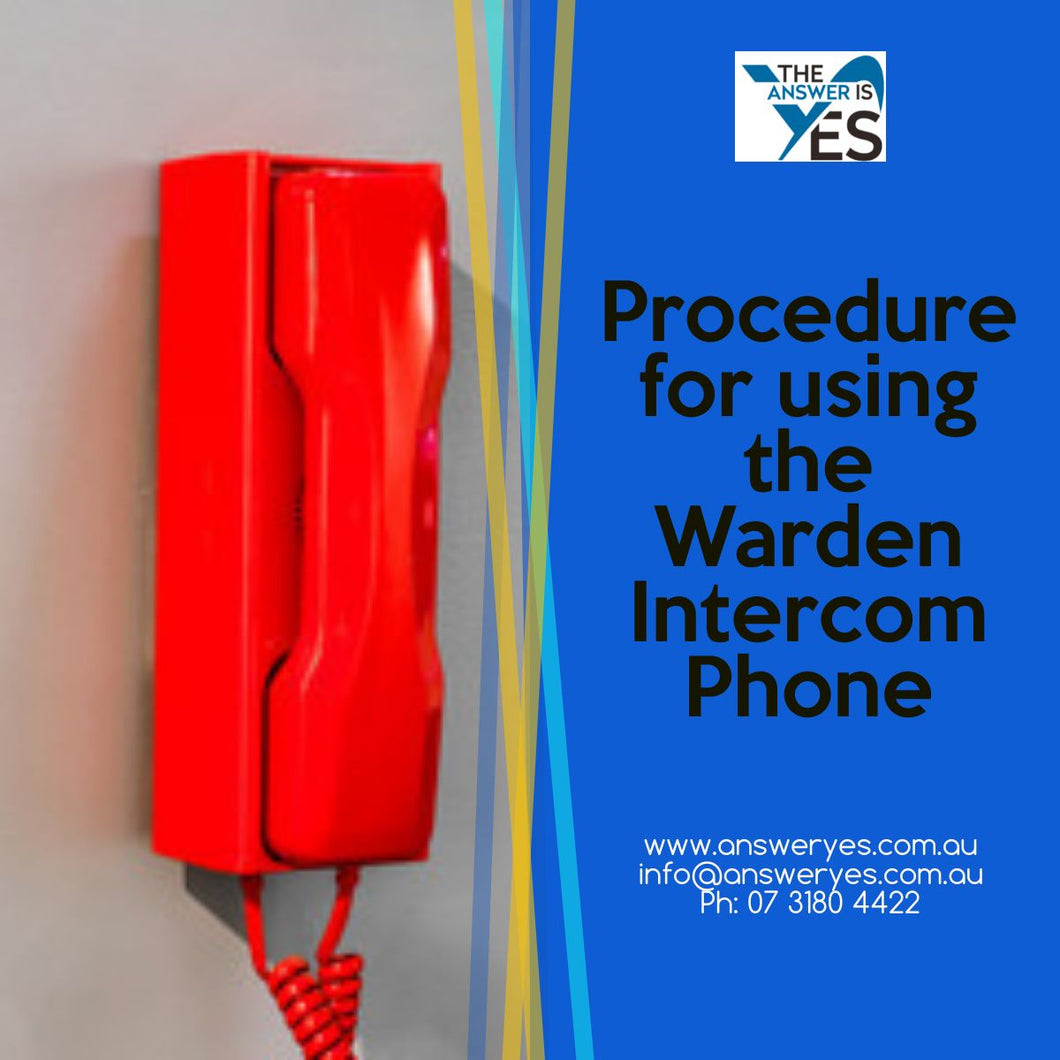 Procedure for using the WIP phone