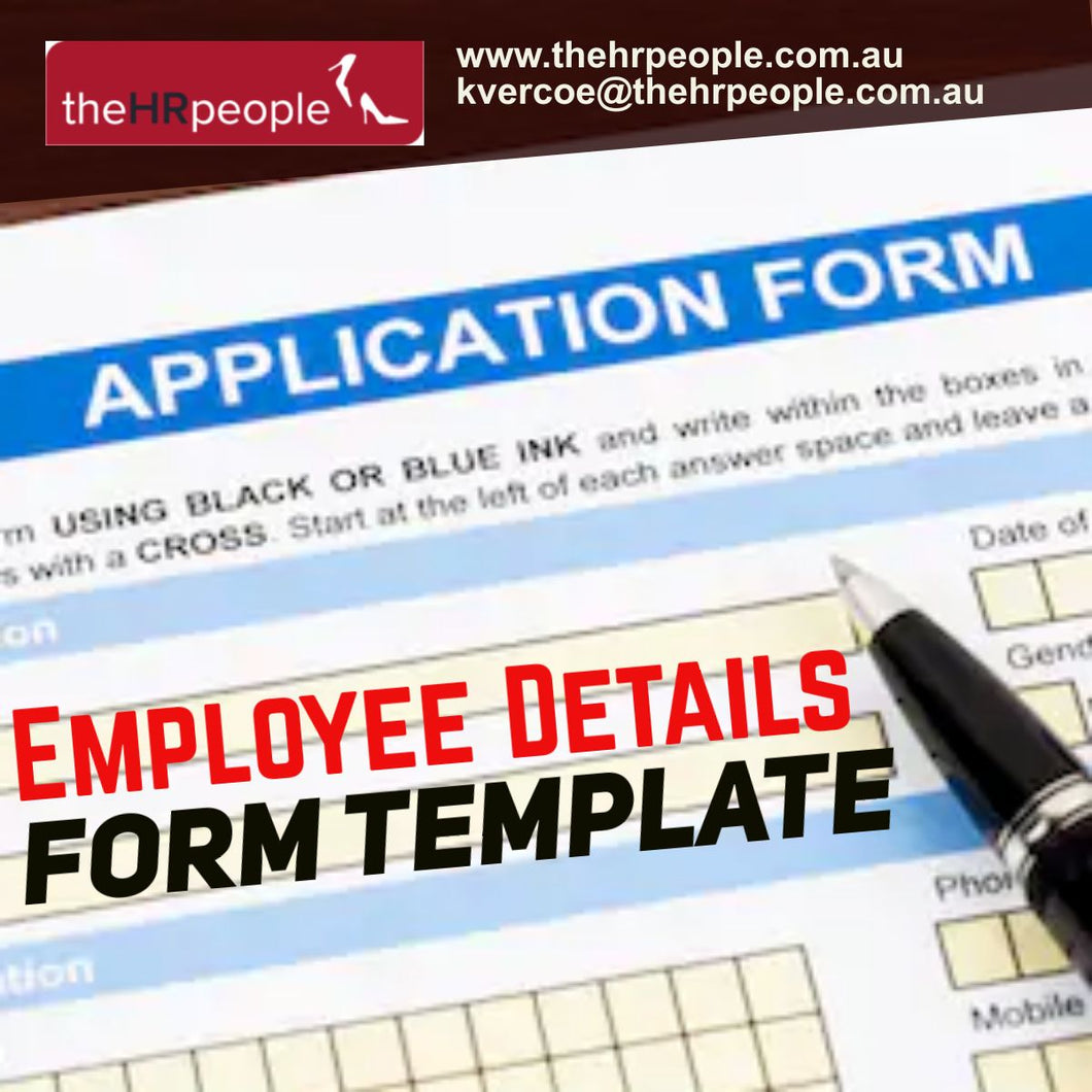 DOC0104_Employee Details Form Template
