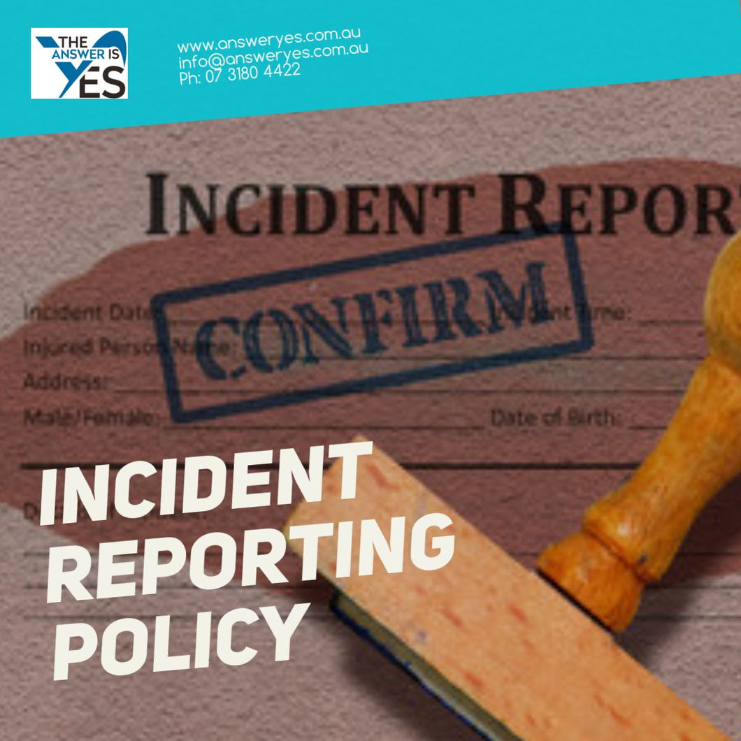 Incident Reporting Policy