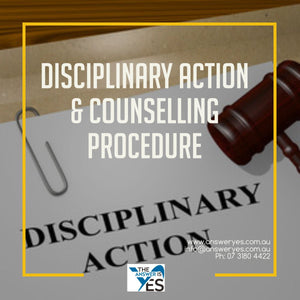 PR00117-Disciplinary Action & Counselling Procedure