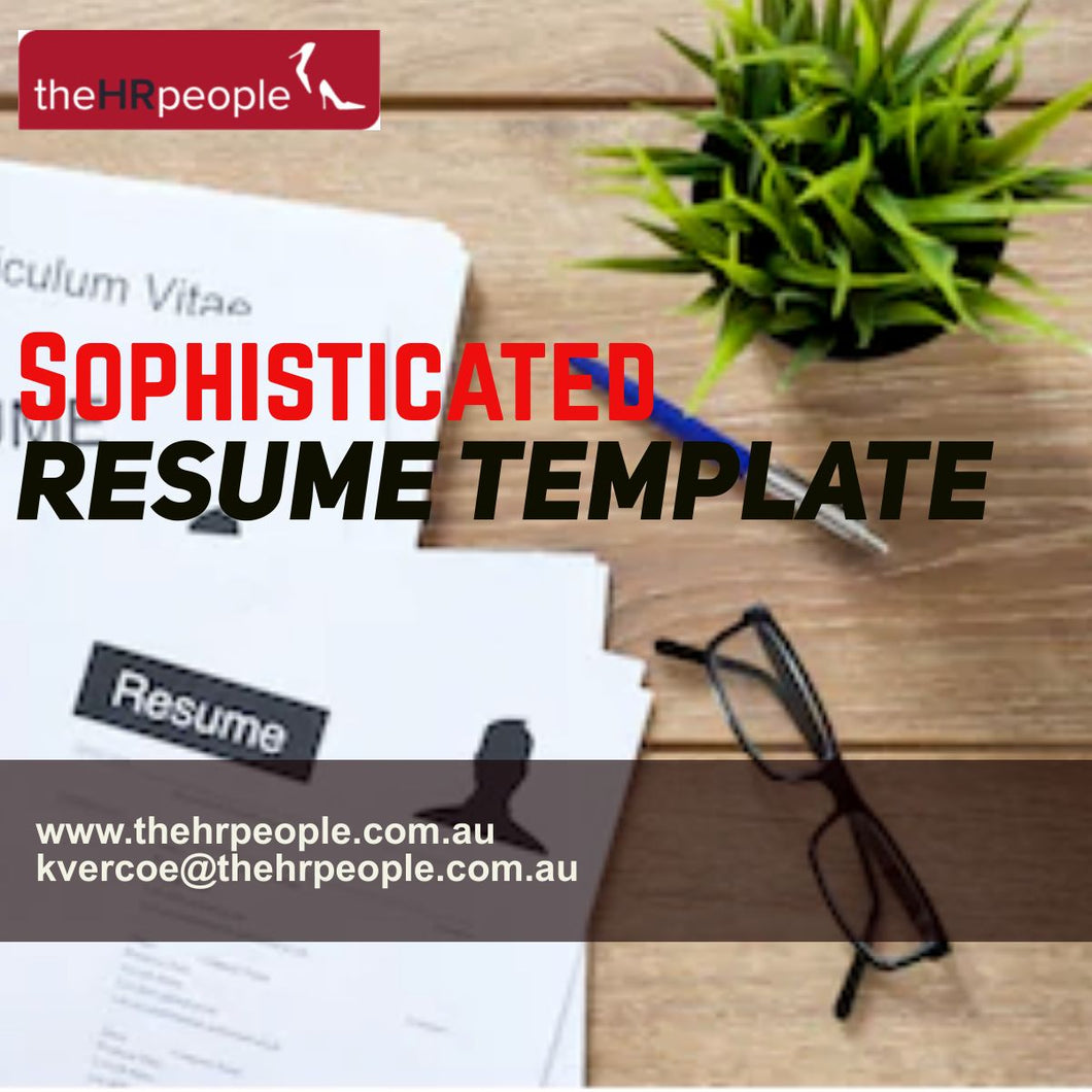 DOC0135 Resume Template Sophisticated