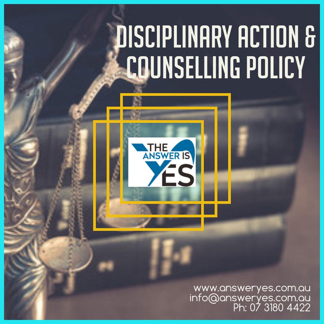 POL0111_Disciplinary Action & Counselling Policy