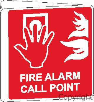 Sign-FIRE ALARM CALL..-D/S OFF-WALL