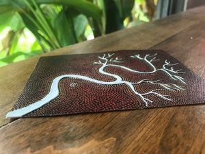 "Aboriginal Textured Print ""Campsite by The River"""