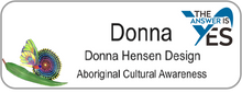 Load image into Gallery viewer, Aboriginal Name Badges-Design 6 - Butterfly