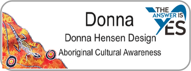 Aboriginal Name Badges-Design 7 - Kangaroos