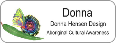Aboriginal Name Badges-Design 6 - Butterfly