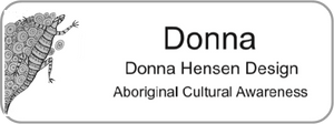 Aboriginal Name Badges-Design 3 - Goanna
