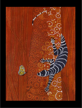"Load image into Gallery viewer, Aboriginal Textured Print ""Curiosity"""
