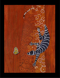 "Aboriginal Textured Print ""Curiosity"""