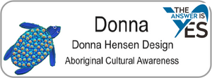 Aboriginal Name Badges-Design 5 - Turtle