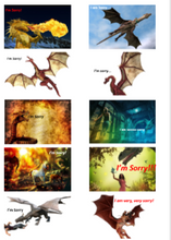 "Load image into Gallery viewer, Positive Words ""I'm Sorry"" Packs-Pack 4-(Dragons) Downloadable"