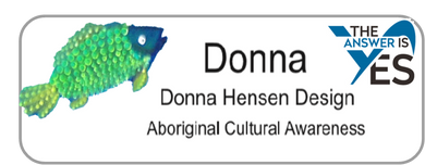 Aboriginal Name Badges-Design 1-Fish