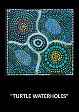 "Load image into Gallery viewer, Aboriginal Textured Print ""Turtle Waterholes"""