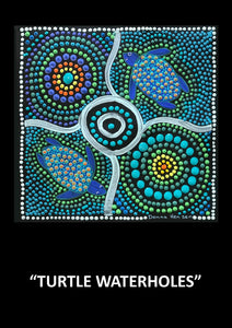 "Aboriginal Textured Print ""Turtle Waterholes"""