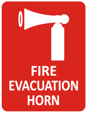 Sign-FIRE EVACUATION HORN & PICTO