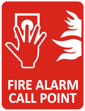 Sign-FIRE ALARM CALL POINT & PICTO