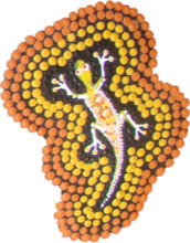 Load image into Gallery viewer, Aboriginal Name Badges-Design 2 - Goanna