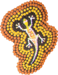 Aboriginal Name Badges-Design 2 - Goanna