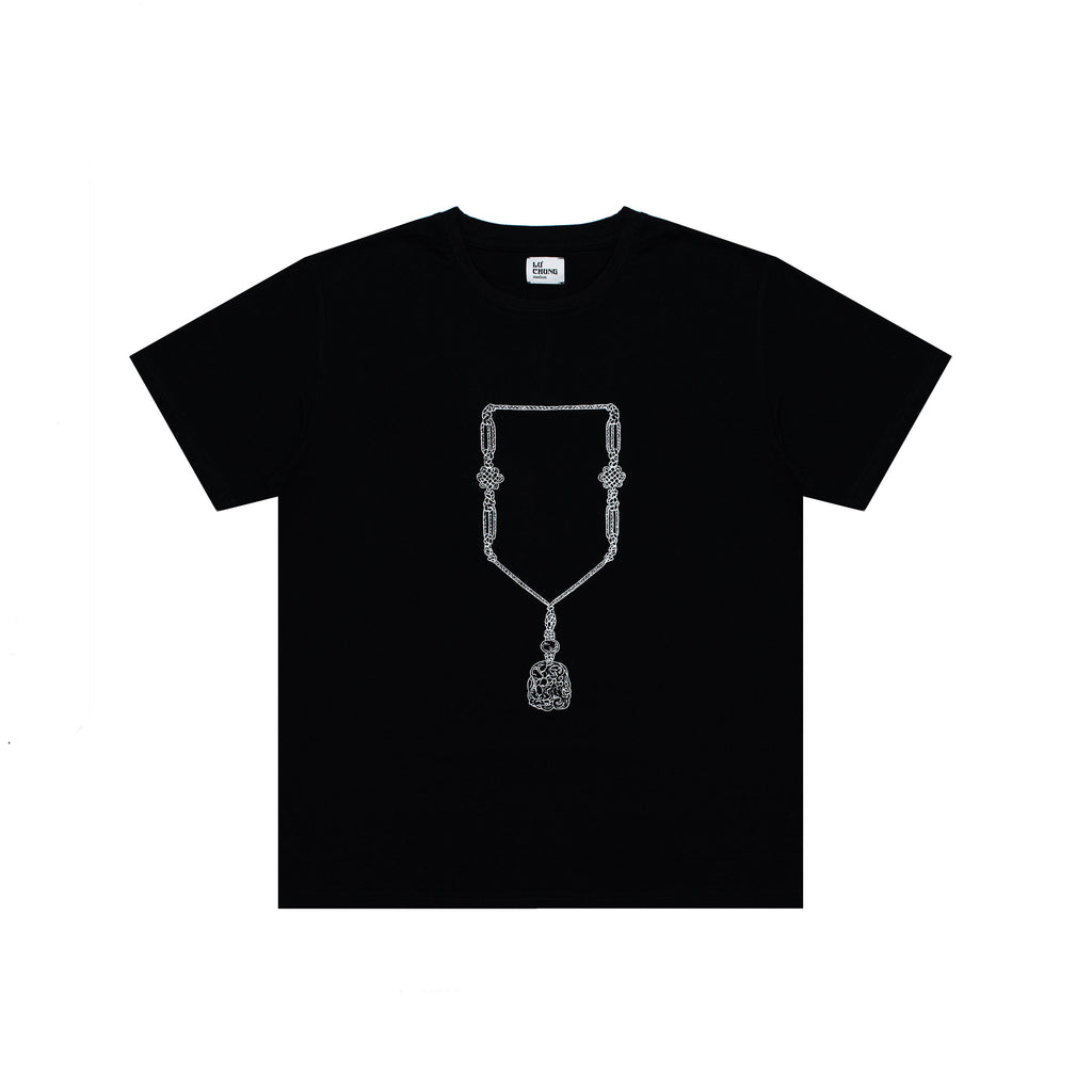 JADE EMBROIDERED TEE (BLACK)