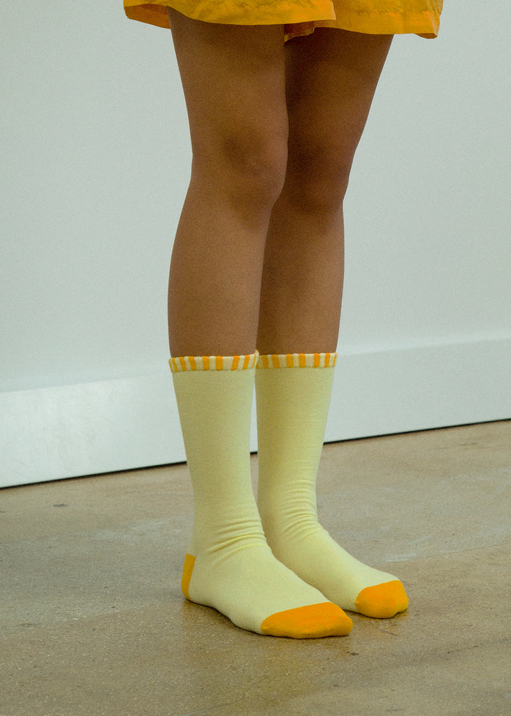 BORDER SOCK (YELLOW)