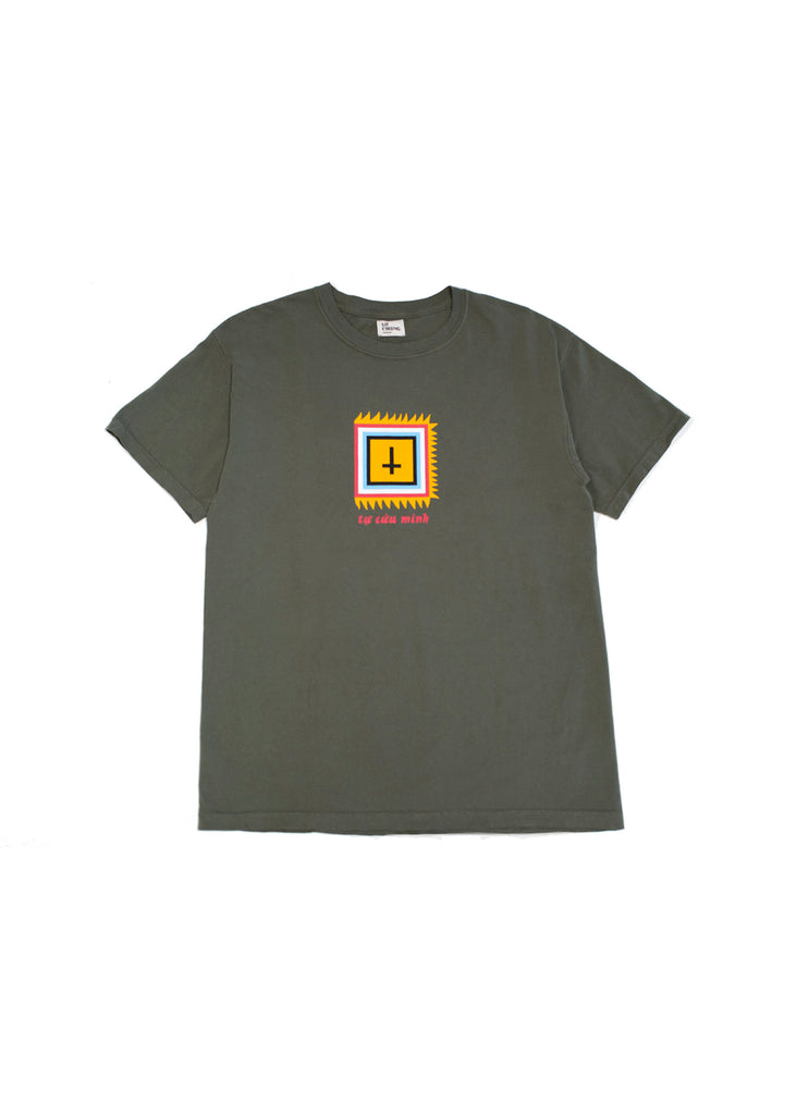 SAVE YOURSELF TEE (SAGE)