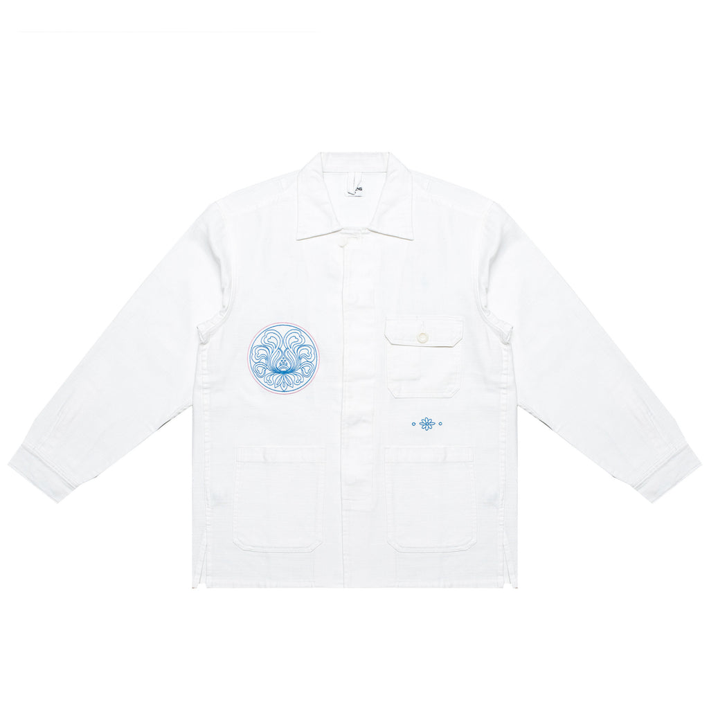 EMBROIDERED CHORE JACKET (WHITE)