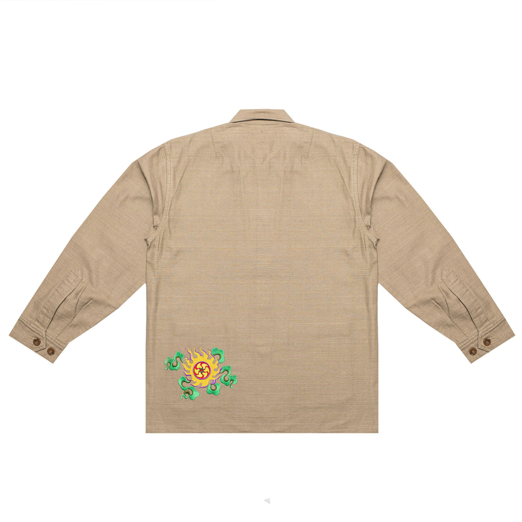 EMBROIDERED CHORE JACKET (KHAKI)
