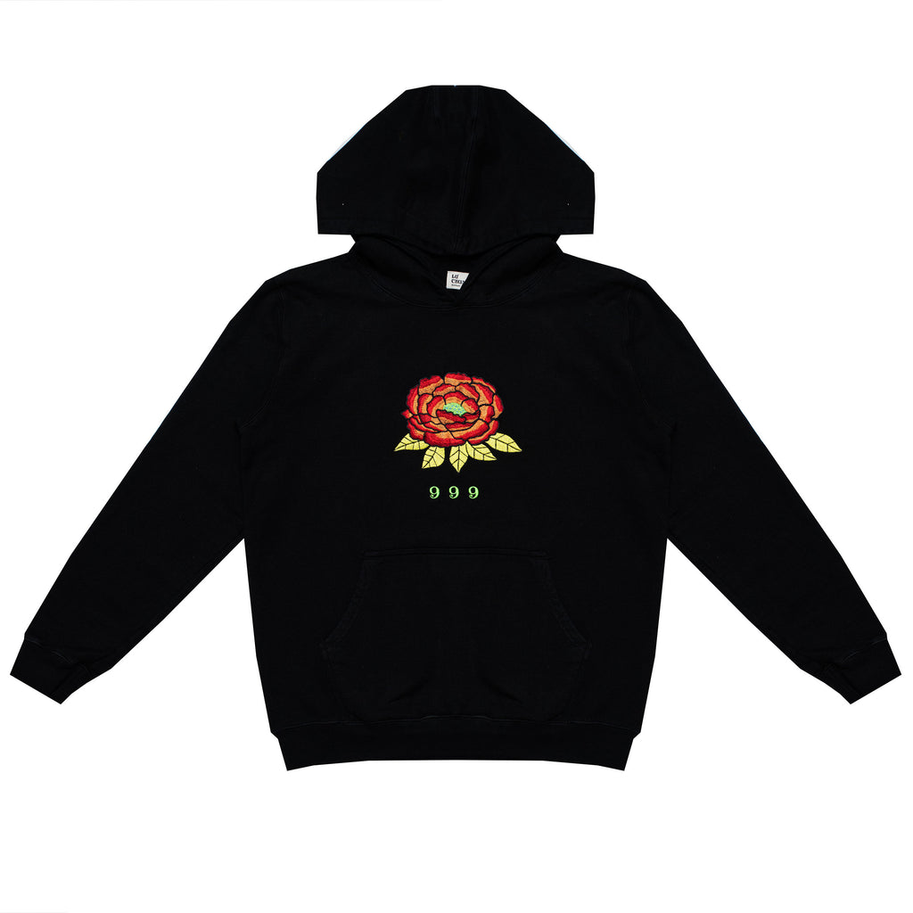 999 EMBROIDERED HOODY (BLACK)