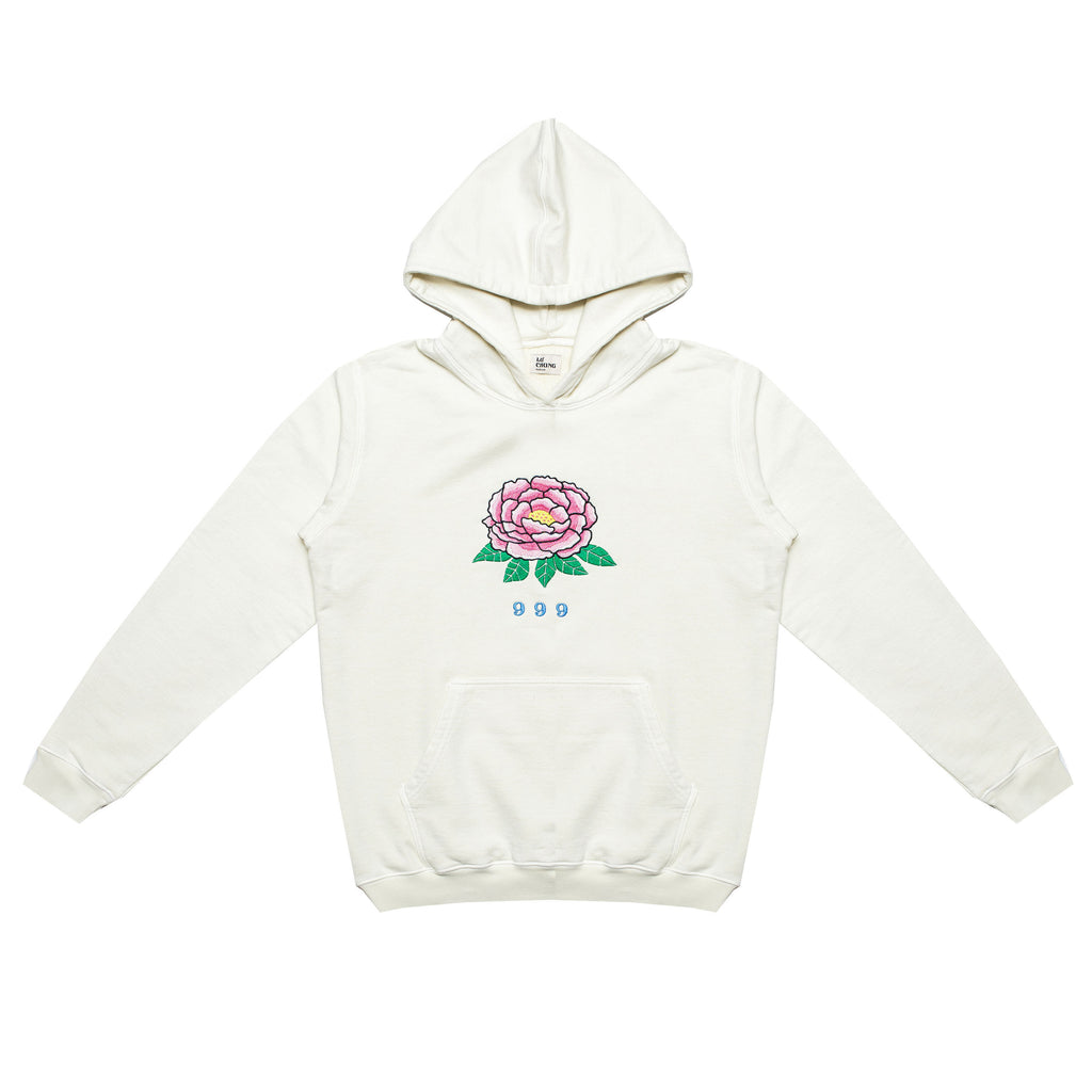999 EMBROIDERED HOODY (NATURAL)