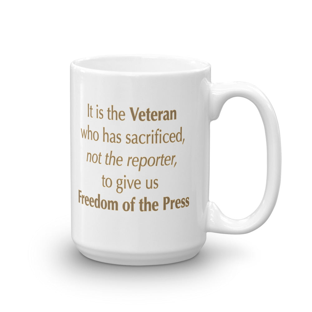 The Veteran and Freedom of the Press Mug