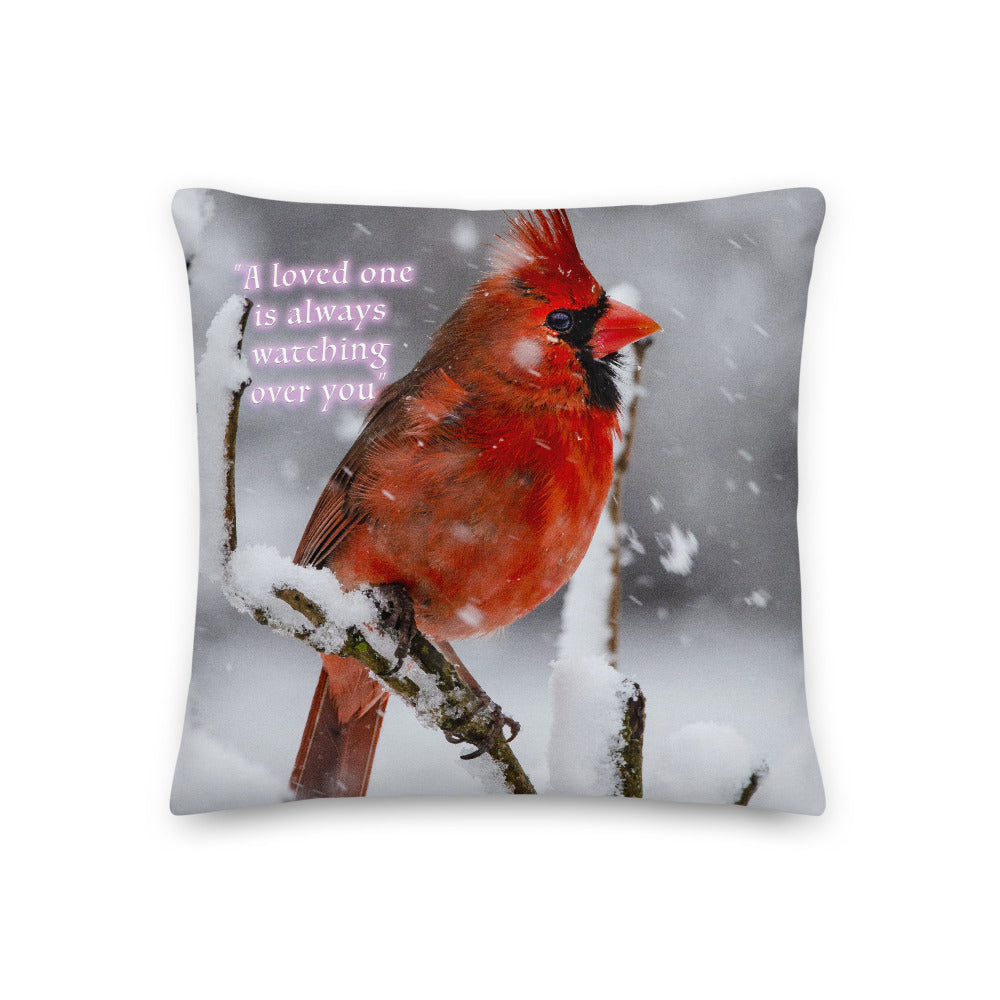 Spiritual Red Cardinal throw pillow