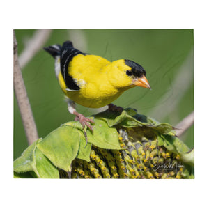 Goldfinch Throw Blanket
