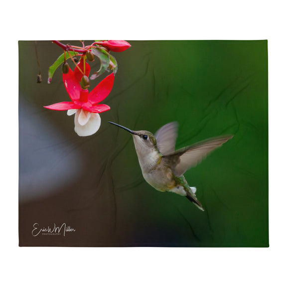 Hummingbird Throw Blanket