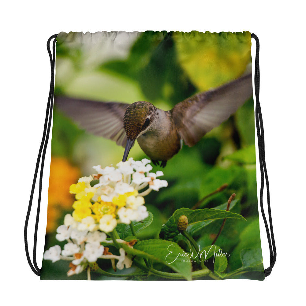 Hummingbird Series by Eric W. Miller - Drawstring bag