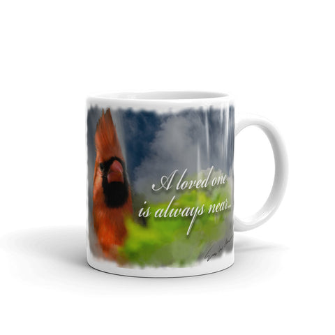 """A Loved One is Always Near"" - Red Cardinal Coffee Mug"