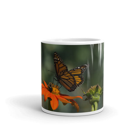 Monarch Butterfly and Bee Coffee Mug