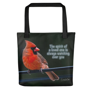 Red Cardinal Spiritual Messenger Tote bag