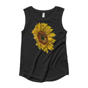 The Sunflower - Ladies' Cap Sleeve T-Shirt