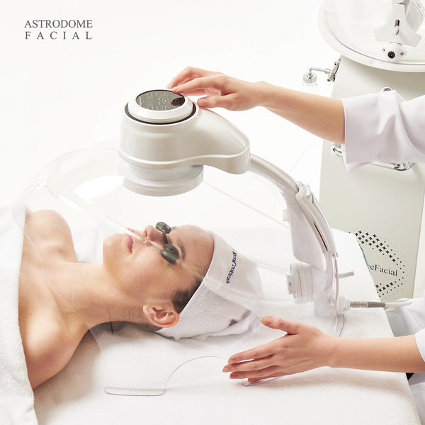 OxygenCeuticals Astrodome Facial led, chromo, anion, mist, oxygen therapy for professional skin care post treatment